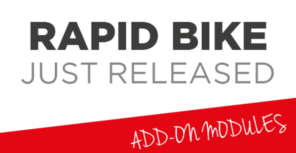 RAPID BIKE JUST RELEASED: NEW APPLICATIONS AVAILABLE